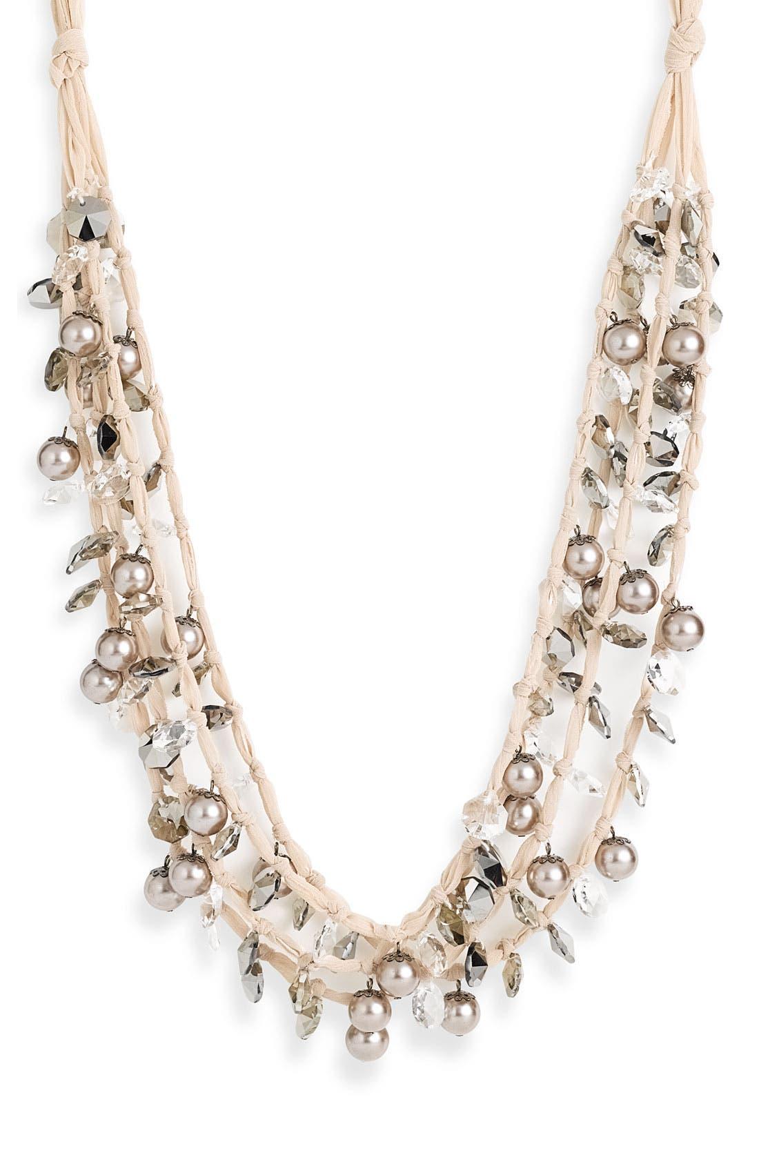 Alternate Image 1 Selected - Spring Street Design Group Multistrand Ribbon Necklace