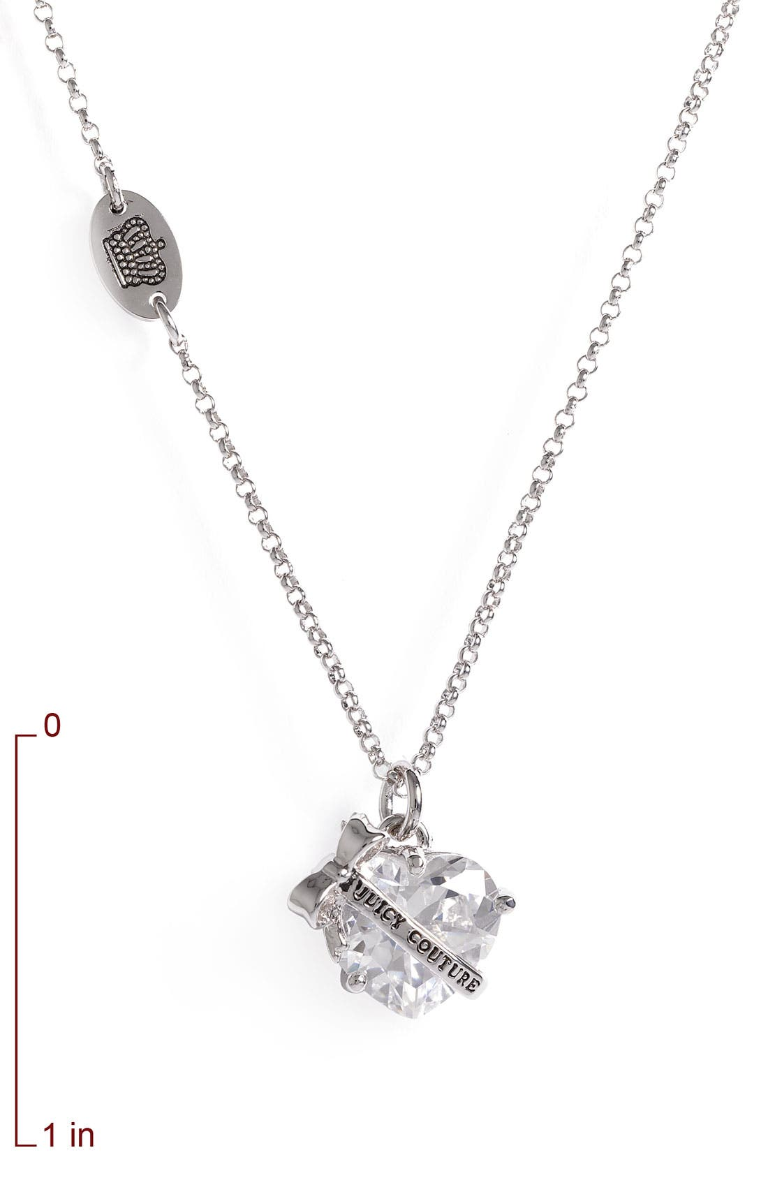 Alternate Image 2  - Juicy Couture 'Wishes' Faceted Heart Pendant Necklace