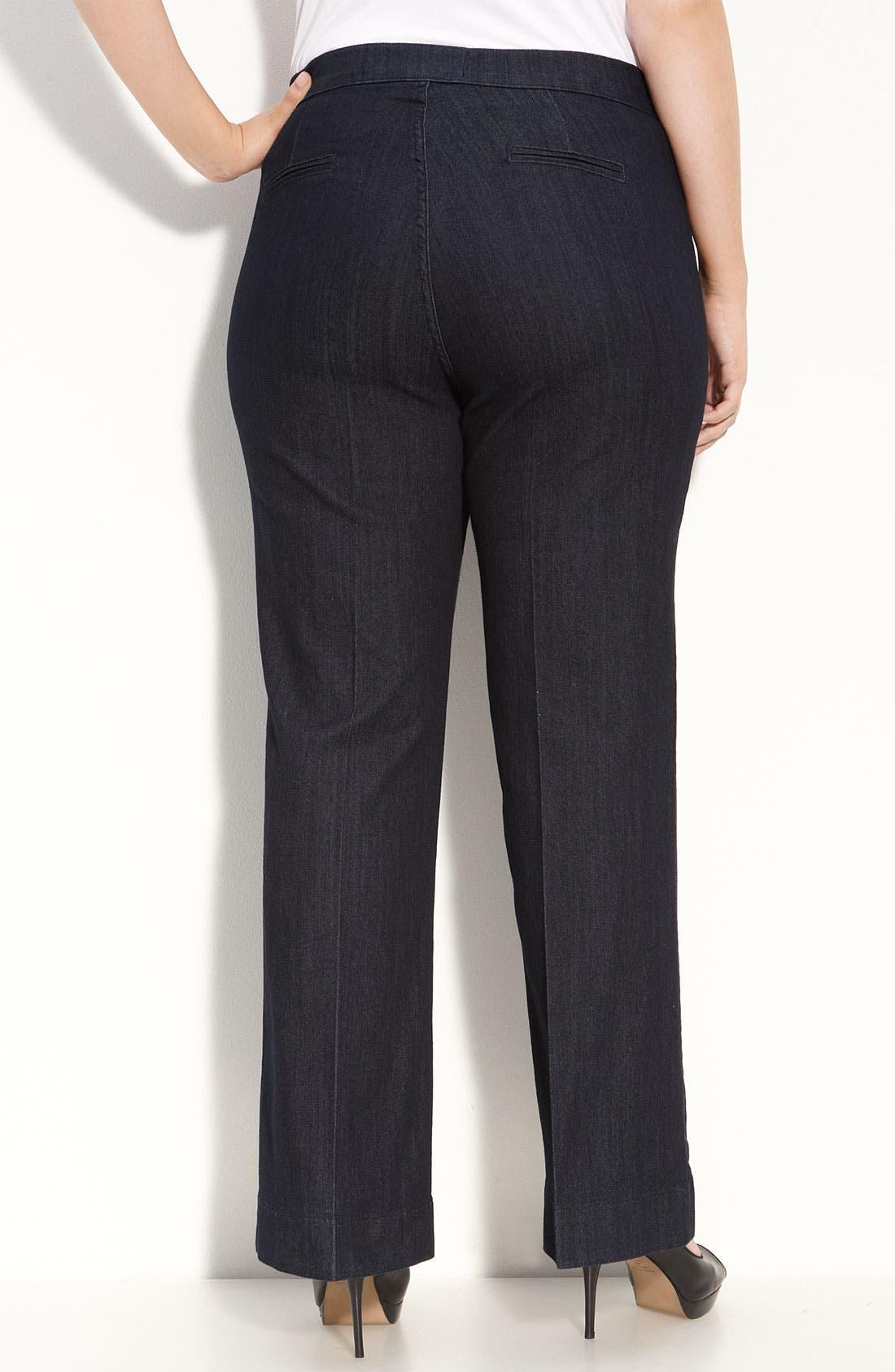 Alternate Image 2  - NYDJ 'Michelle' Trouser Jeans (Plus Size)