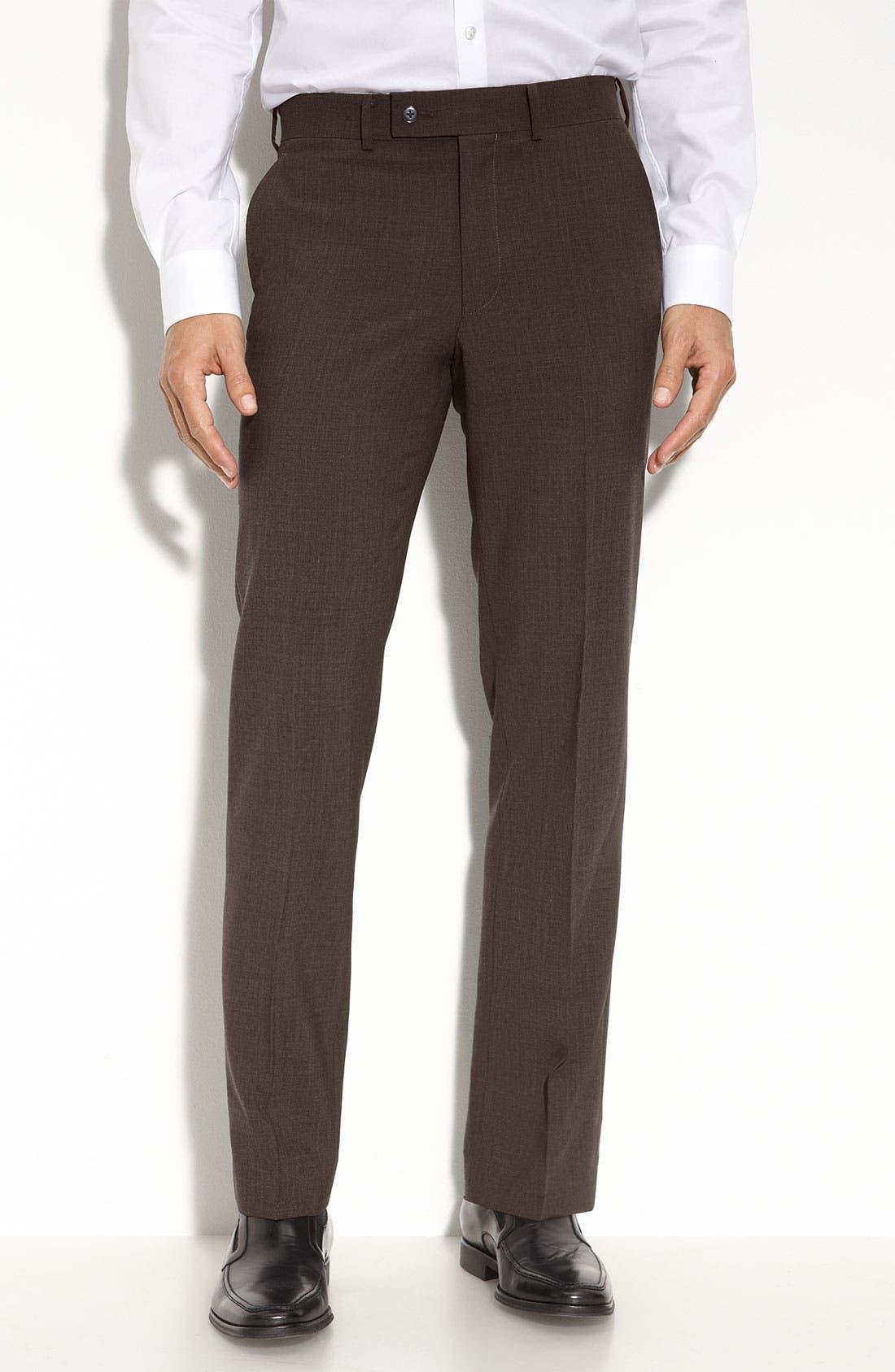 Alternate Image 1 Selected - John Varvatos Star USA 'Petro' Flat Front Wool Trousers