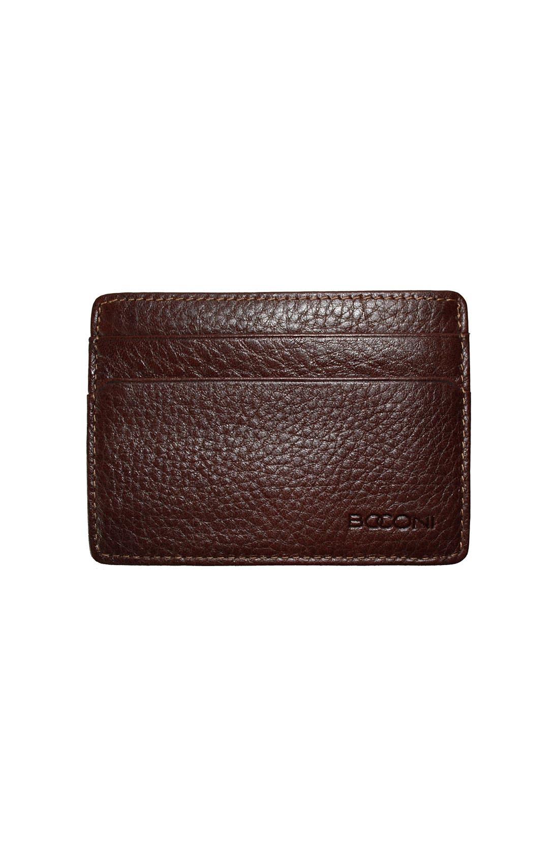 Alternate Image 1 Selected - Boconi 'Tyler' Tumbled Leather ID Card Case