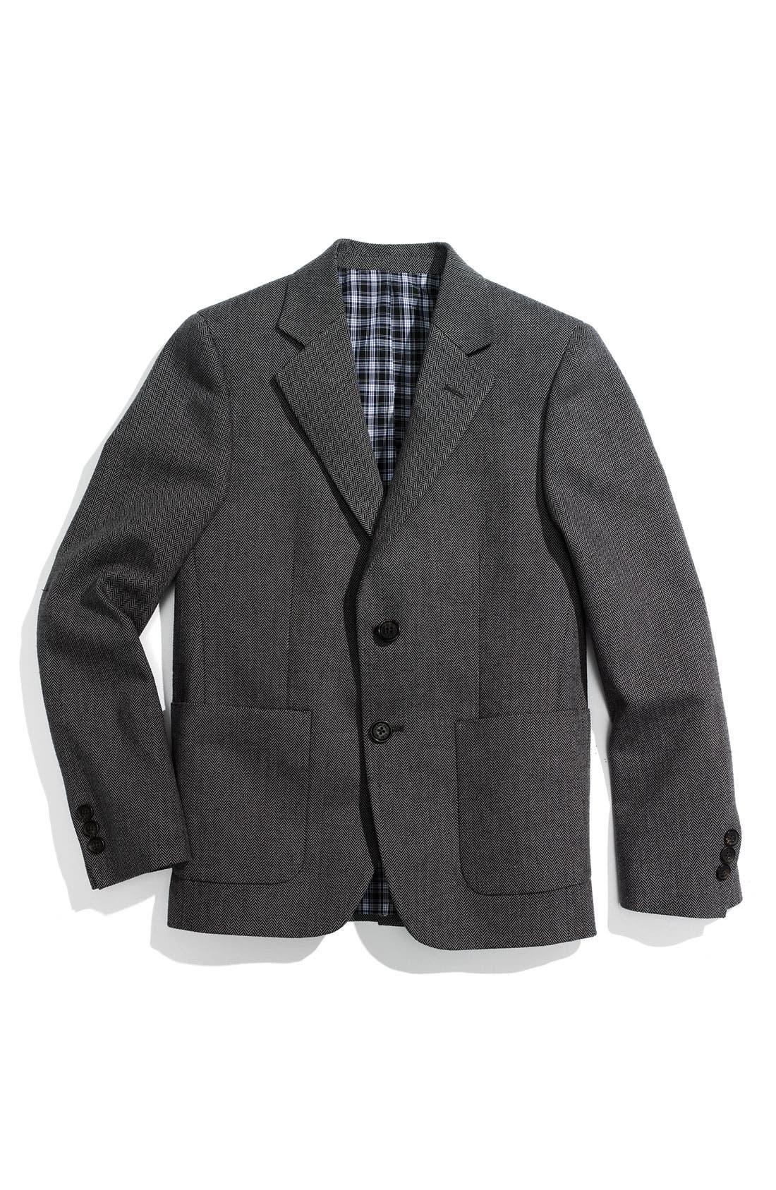 Main Image - Brooks Brothers Herringbone Jacket (Big Boys)