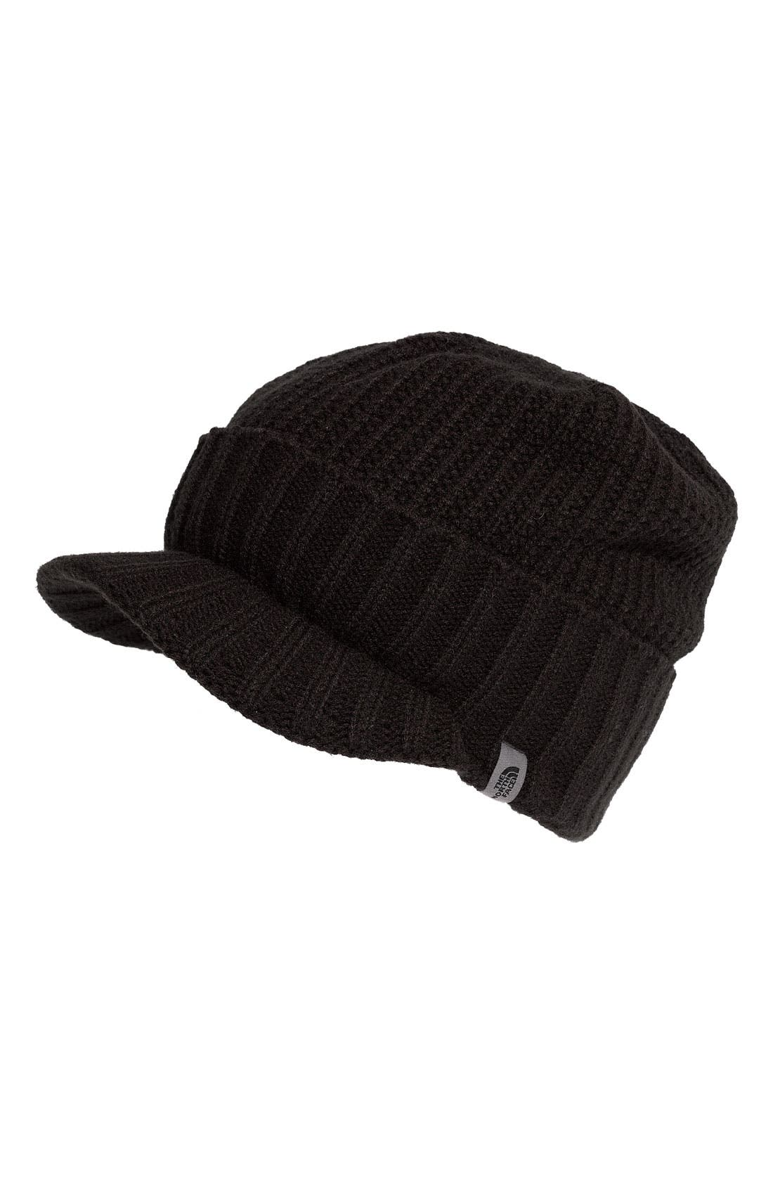 Alternate Image 1 Selected - The North Face 'GTO' Rib Knit Visor Beanie (Men)