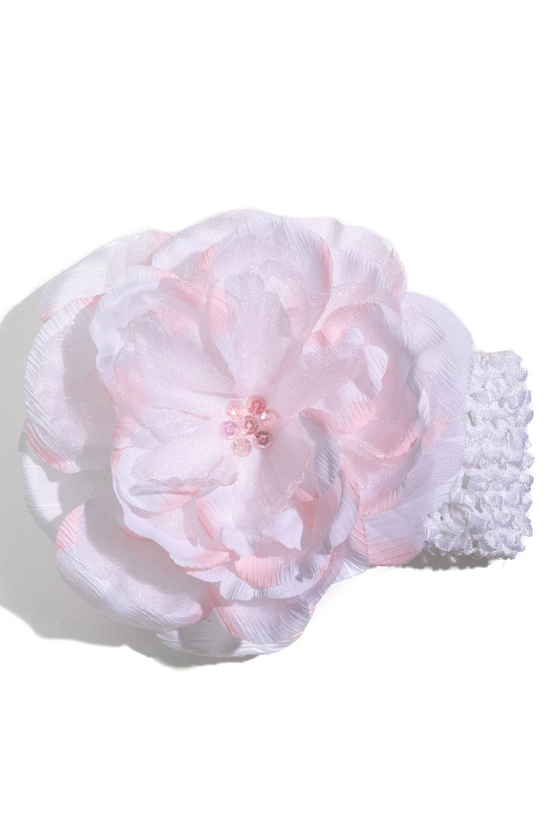 Alternate Image 1 Selected - PLH Bows & Laces Crochet Headband (Infant & Toddler)