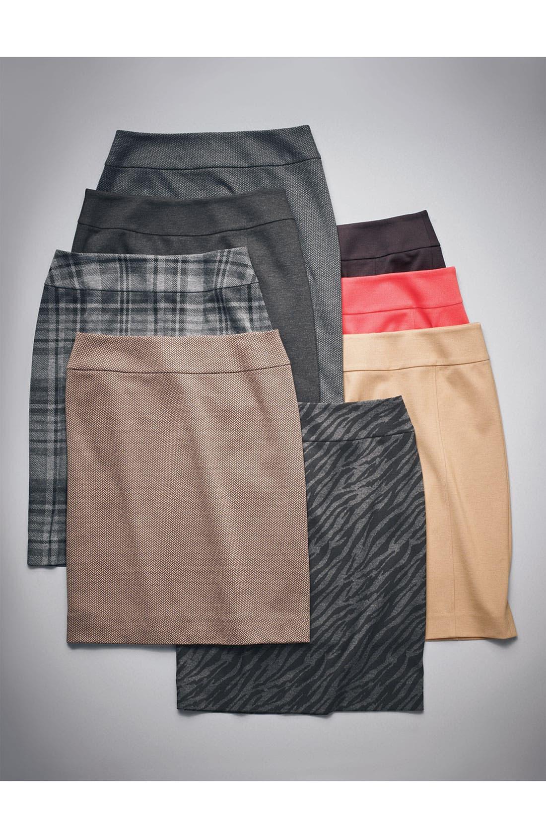 Alternate Image 2  - Halogen® Patterned Knit Skirt