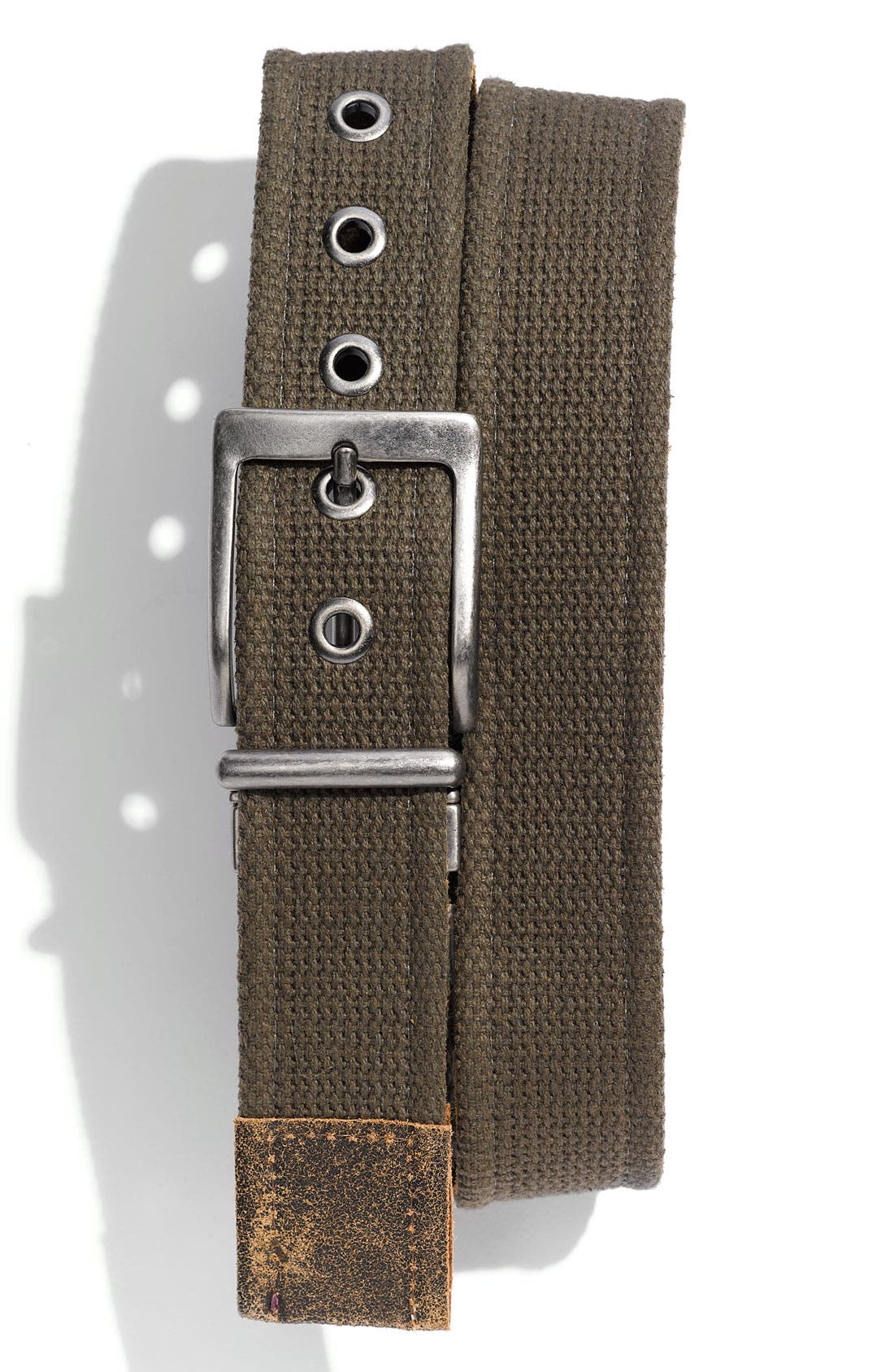 Main Image - 1901 Reversible Washed Suede & Canvas Belt