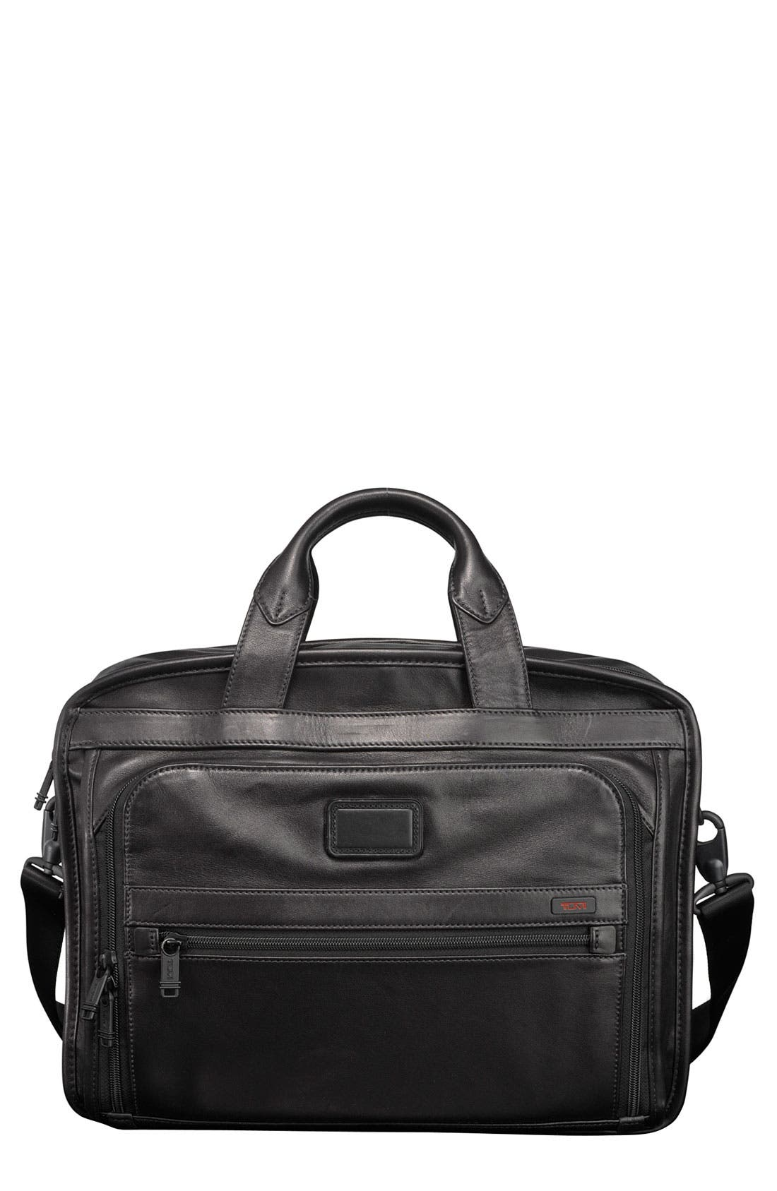 Alternate Image 1 Selected - Tumi 'Alpha - T-Pass™' Organizer Leather Briefcase