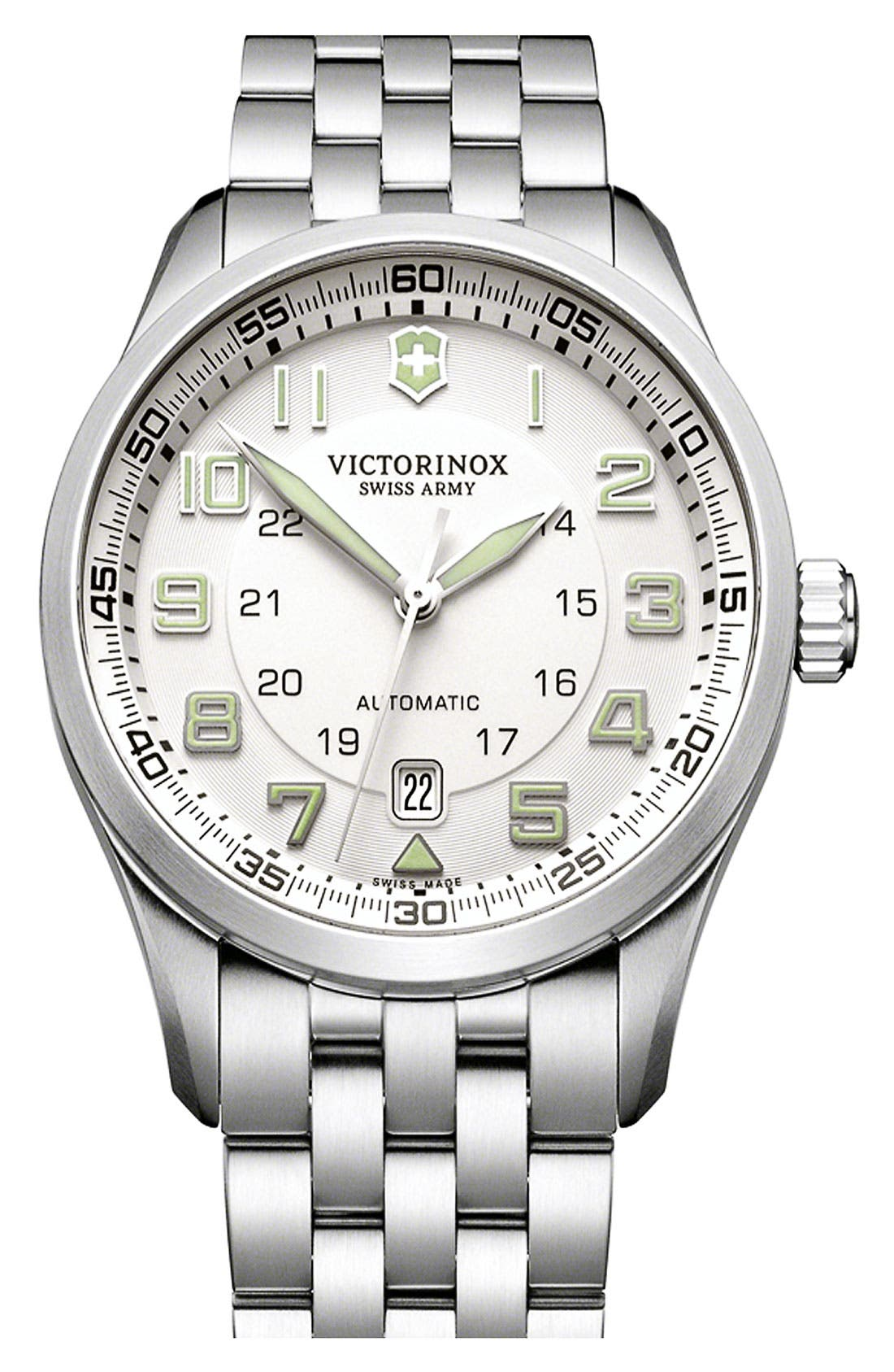 Alternate Image 1 Selected - Victorinox Swiss Army® 'Airboss' Automatic Bracelet Watch, 42mm