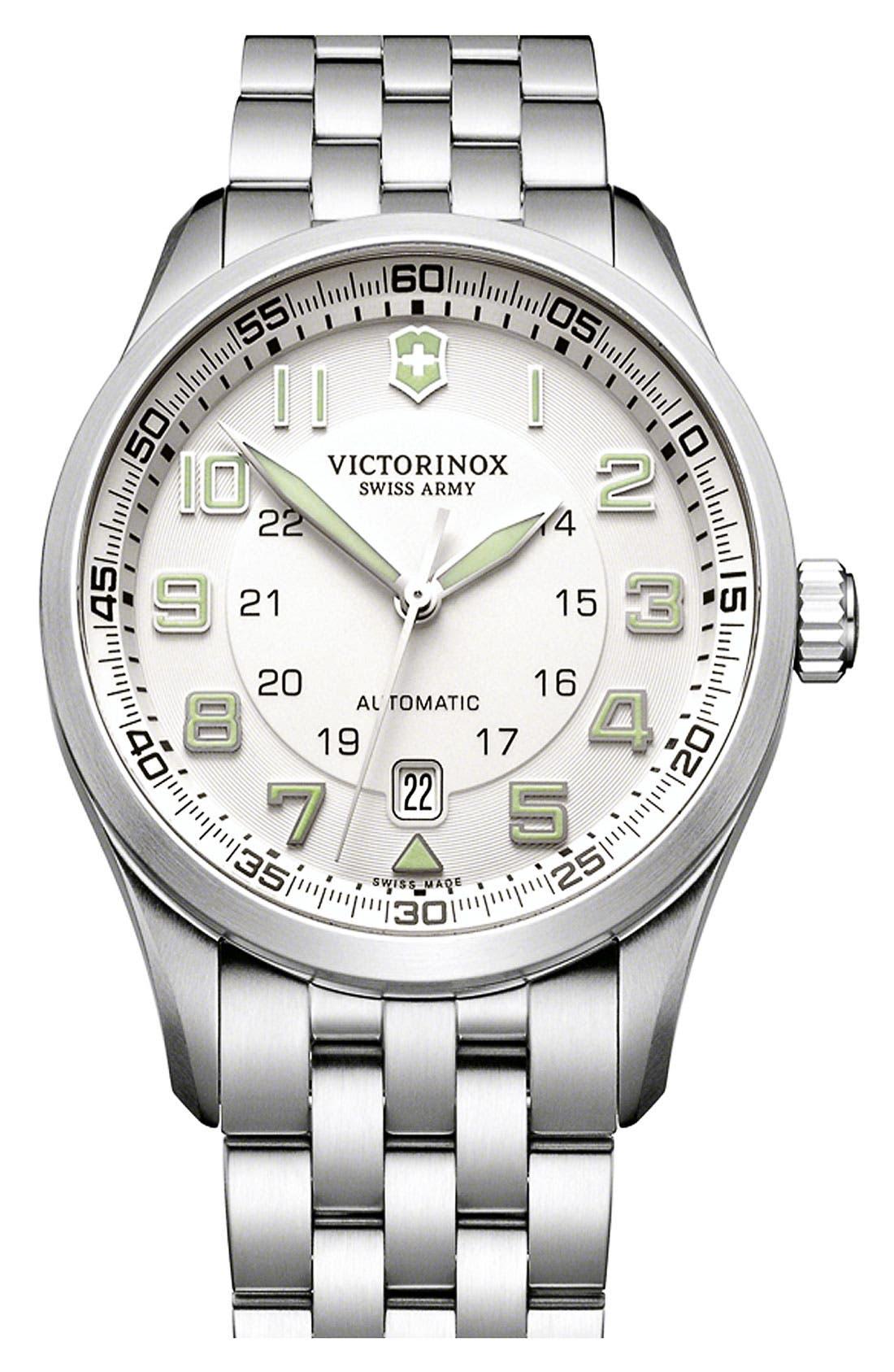 Main Image - Victorinox Swiss Army® 'Airboss' Automatic Bracelet Watch, 42mm