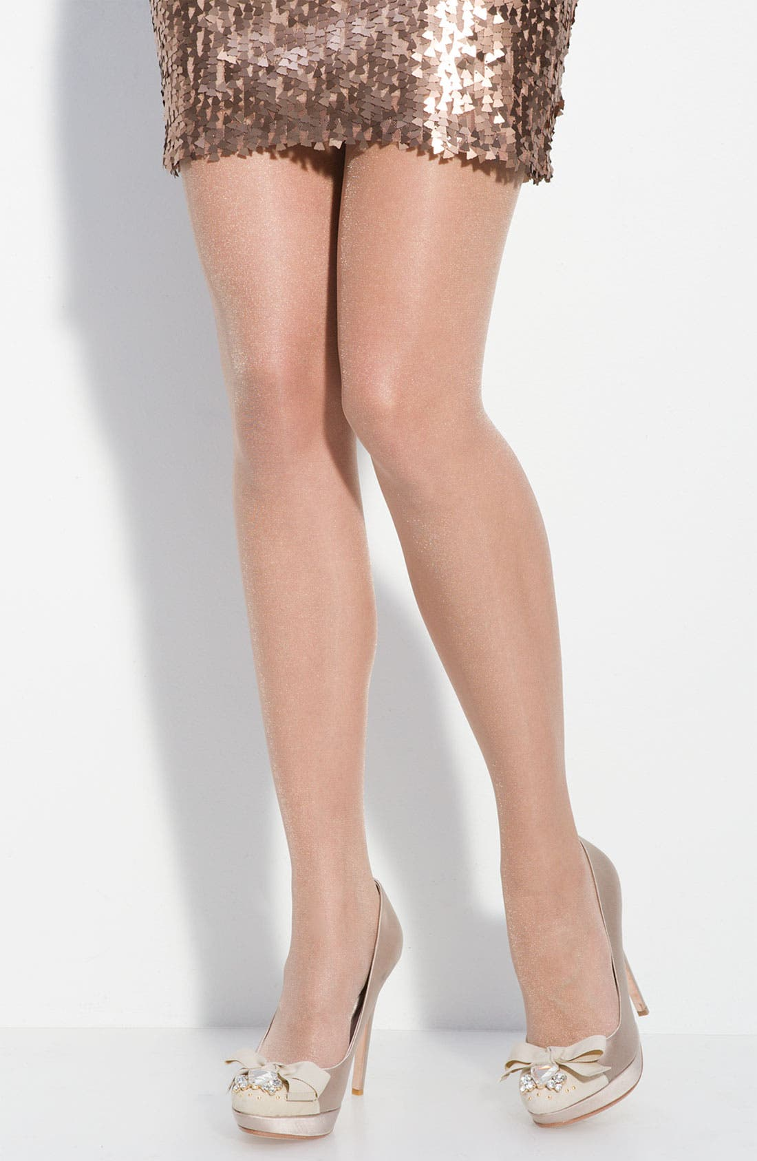 Alternate Image 1 Selected - Calvin Klein 'Shimmer' Sheer Control Top Pantyhose