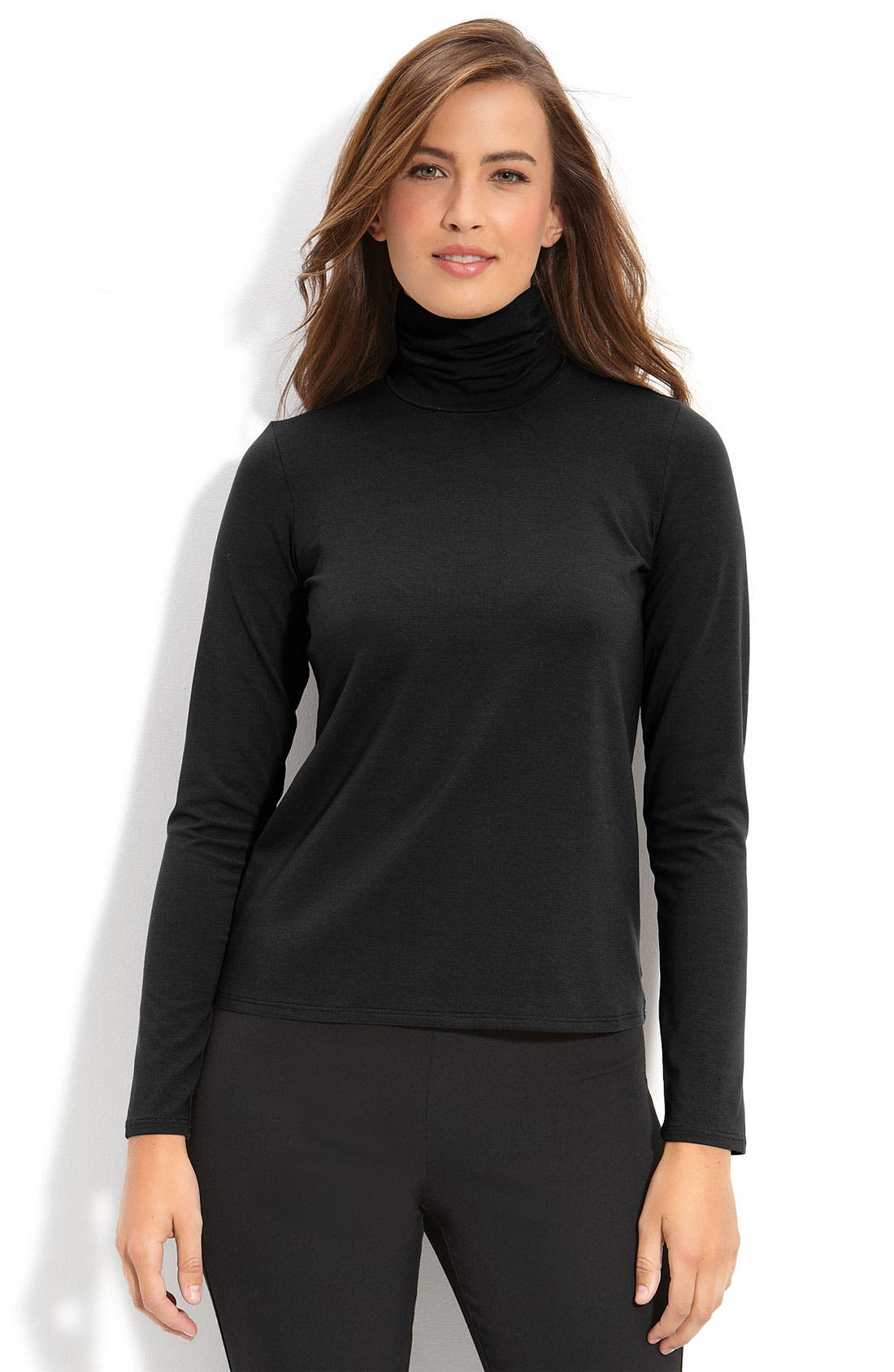 Alternate Image 1 Selected - Eileen Fisher Scrunch Turtleneck Top