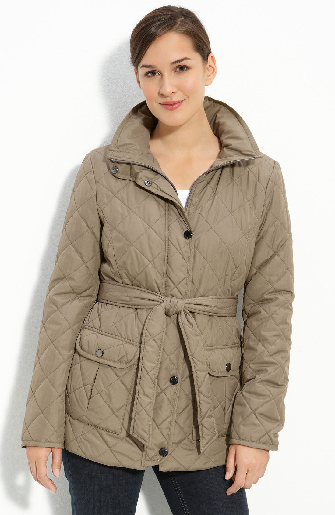 Alternate Image 1 Selected - Ellen Tracy Lightweight Quilted Jacket