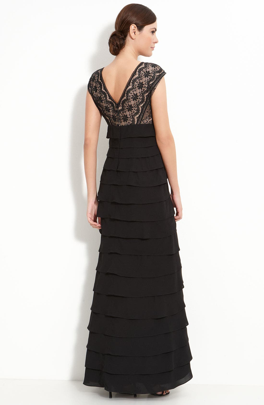 Alternate Image 2  - Adrianna Papell Lace & Chiffon Gown
