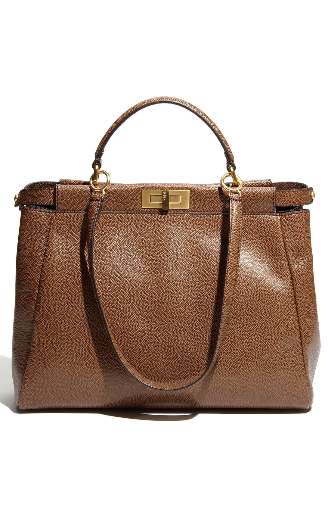Alternate Image 4  - Fendi 'Peekaboo - Large' Glazed Leather Satchel