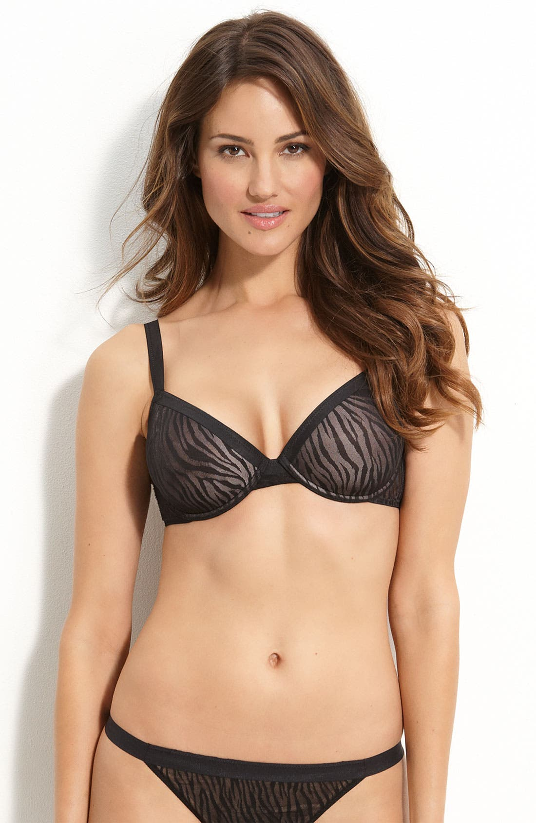 Alternate Image 1 Selected - On Gossamer 'Sheer Instinct' Contour Underwire Demi Bra