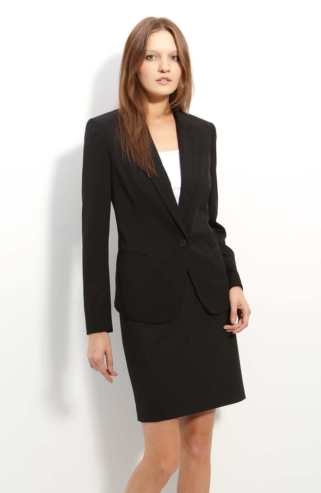 Alternate Image 1 Selected - Averly One Button Blazer
