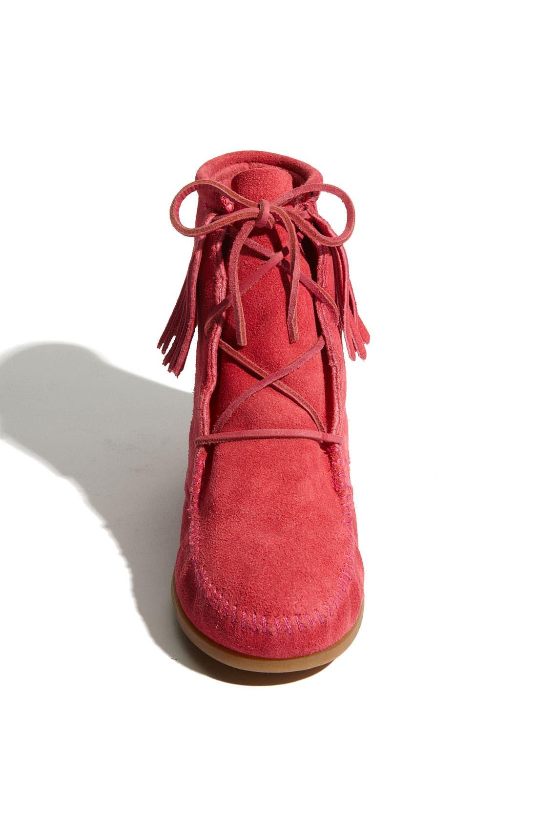 Alternate Image 3  - Minnetonka Lace-Up Boot (Walker, Toddler & Little Kid)