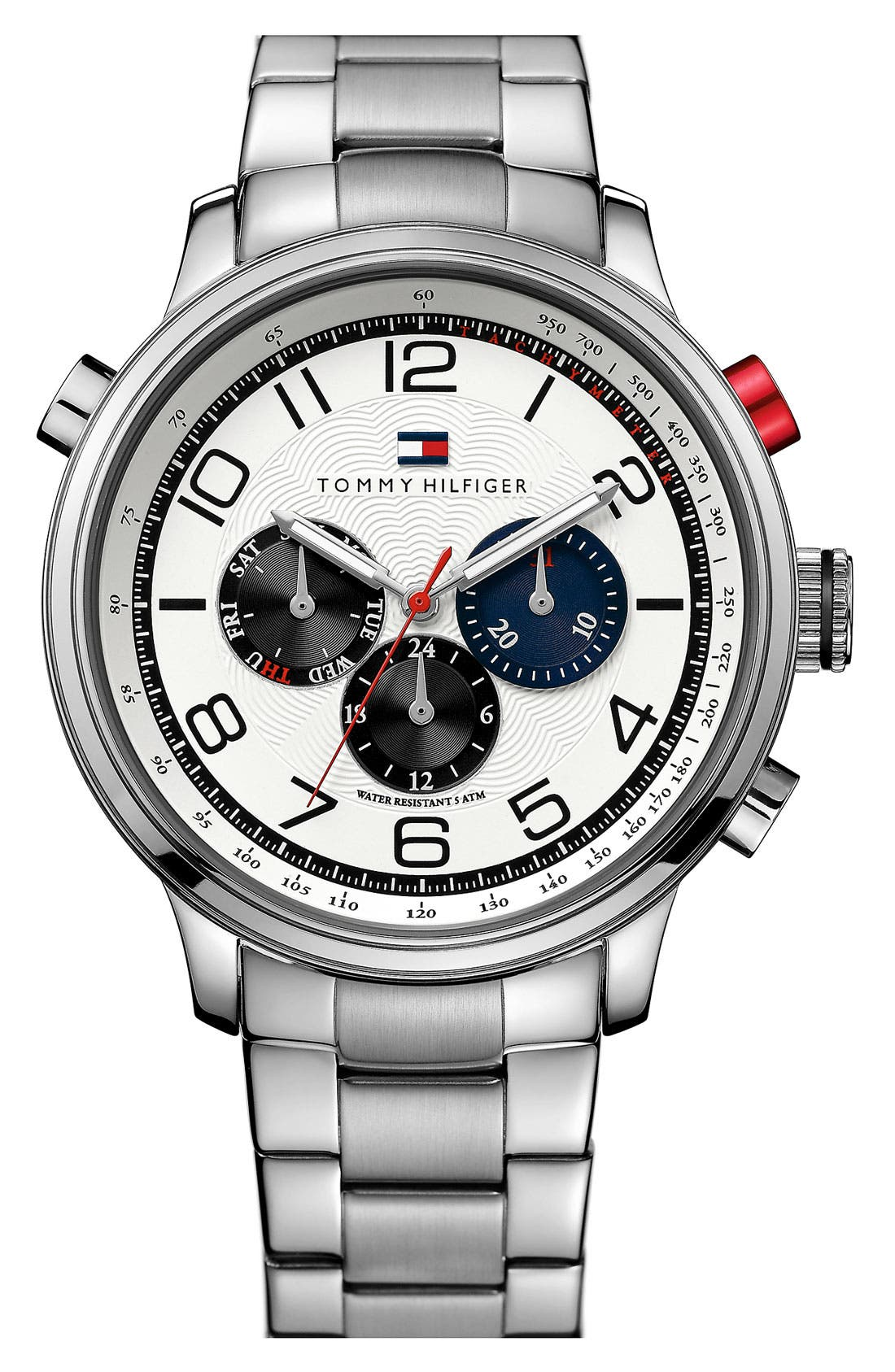 Main Image - Tommy Hilfiger Stainless Steel Bracelet Watch, 46mm
