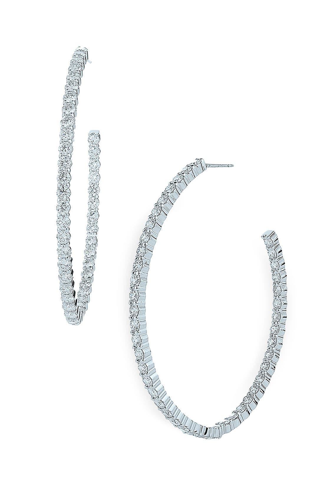 Main Image - Kwiat 'Inside Out' Diamond Hoop Earrings