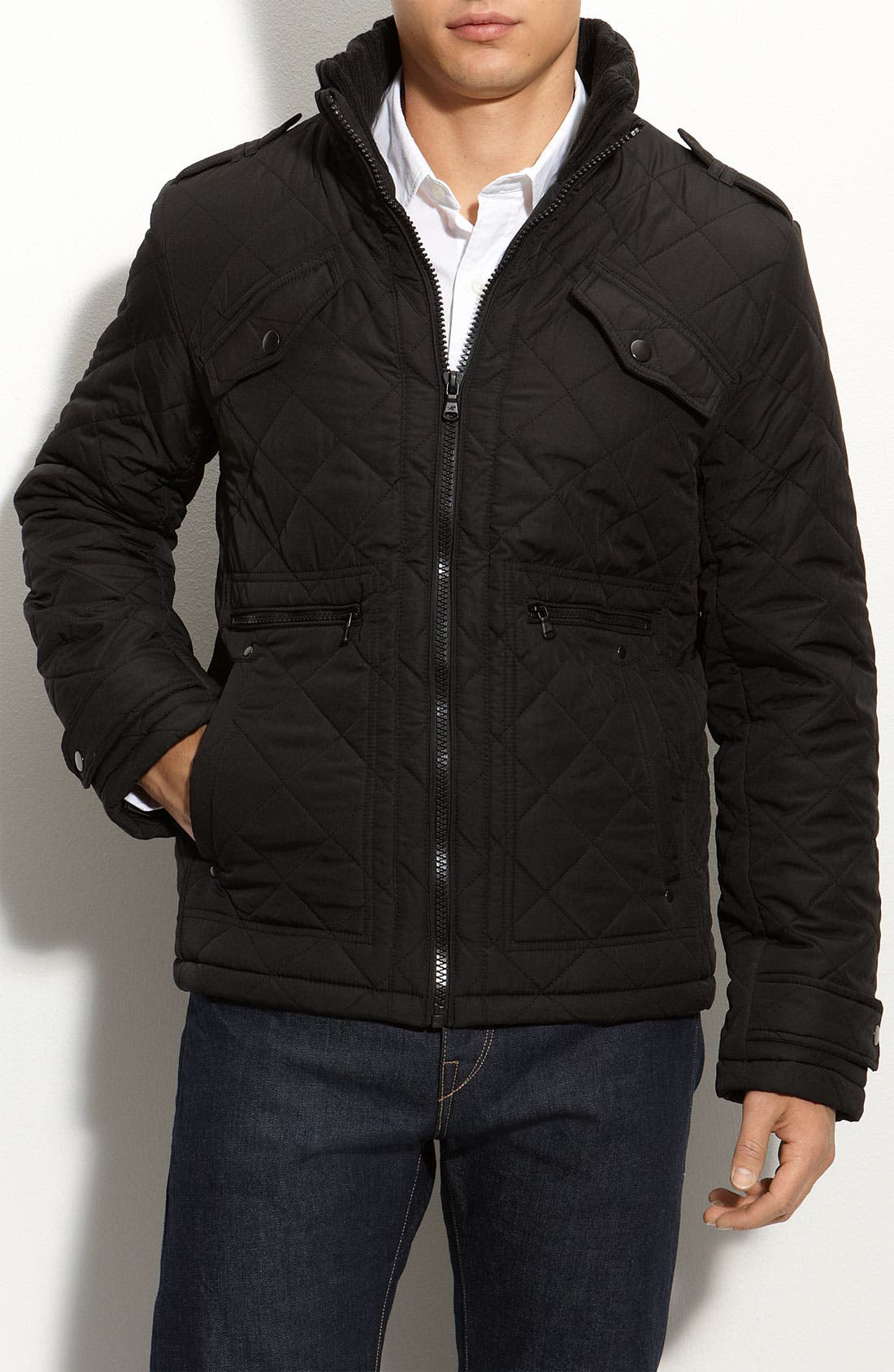 Alternate Image 1 Selected - Kenneth Cole New York Quilted Jacket