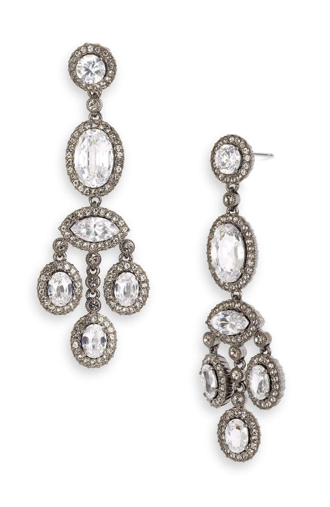 Alternate Image 1 Selected - Nadri Framed Cubic Zirconia Chandelier Earrings