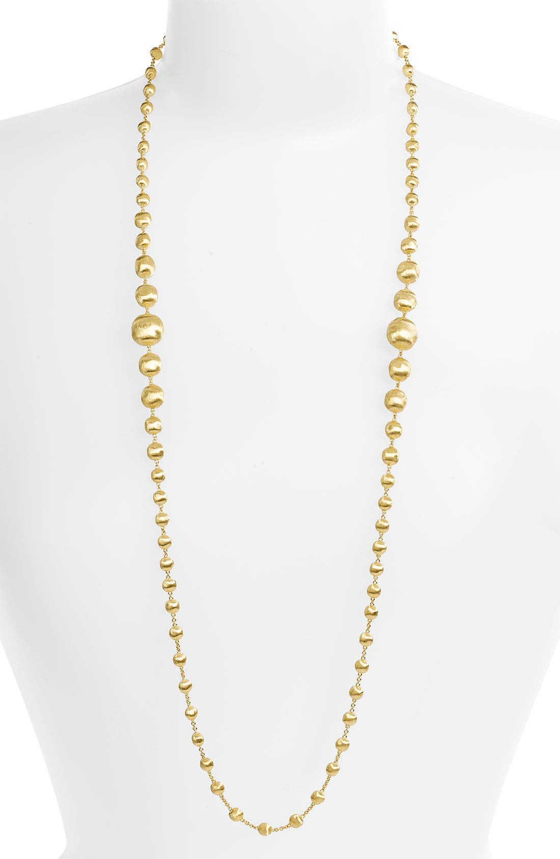 Alternate Image 1 Selected - Marco Bicego 'Africa Gold' Graduated Long Strand Necklace