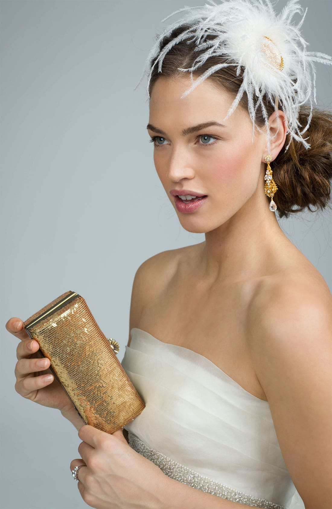 Alternate Image 2  - Tasha 'Fancy Frock' Feather Fascinator Headband
