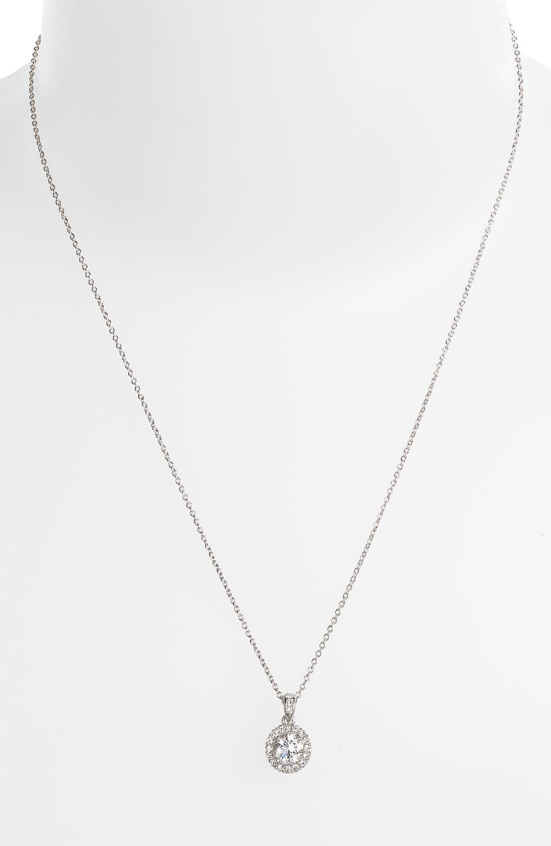 Alternate Image 2  - Nadri Framed Round Cubic Zirconia Necklace (Nordstrom Exclusive)