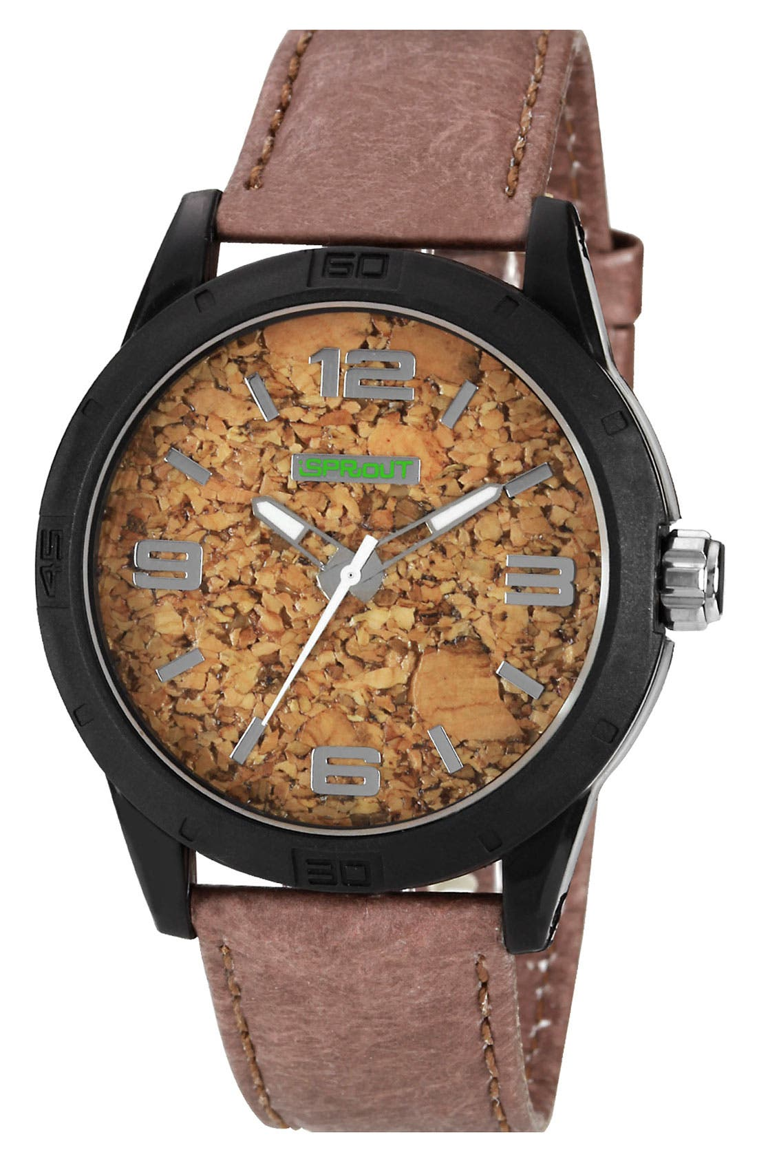 Alternate Image 1 Selected - SPROUT™ Watches Cork Dial Watch, 45mm