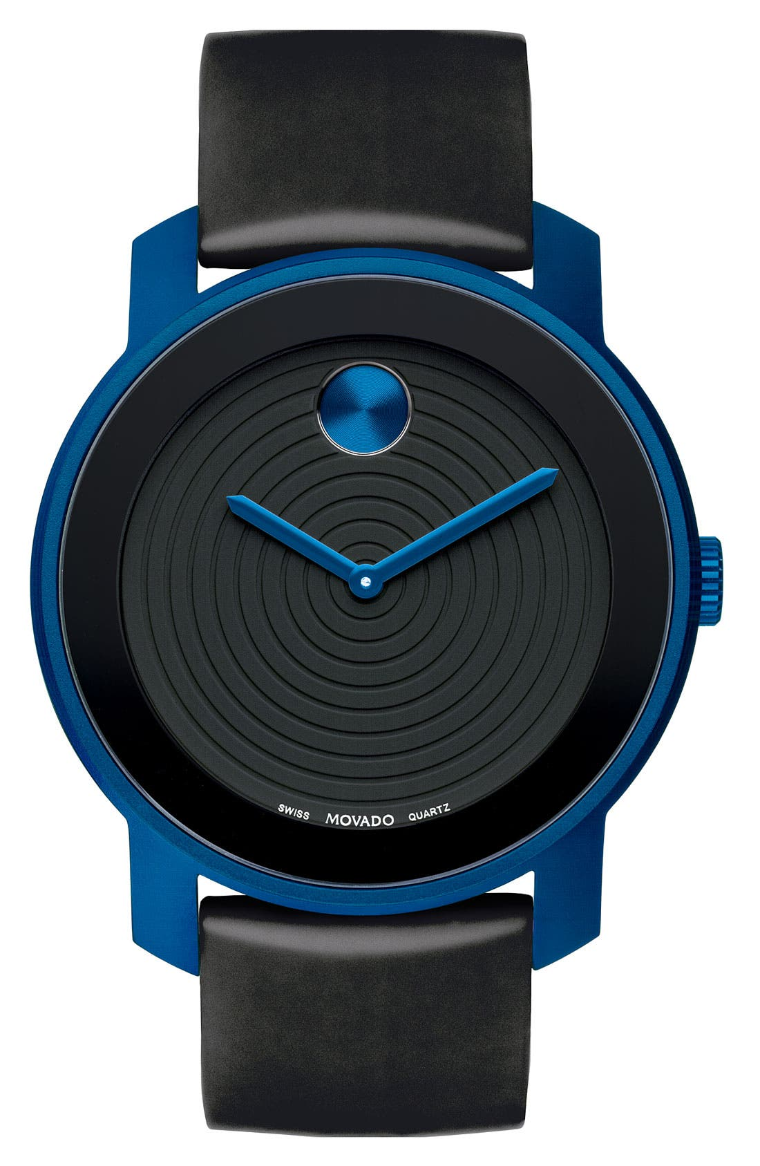 Alternate Image 1 Selected - Movado 'Large Bold' Silicone Strap Watch
