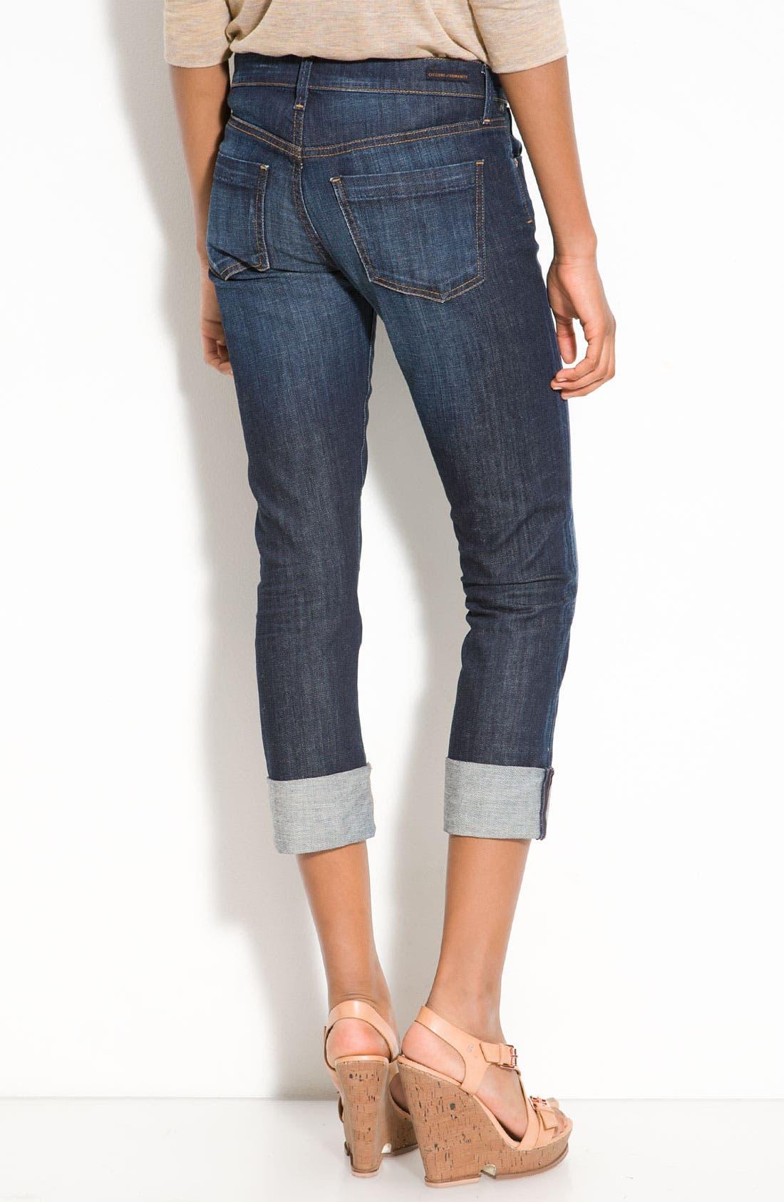 Alternate Image 2  - Citizens of Humanity 'Dani' Crop Straight Leg Jeans (Scorpio Wash)