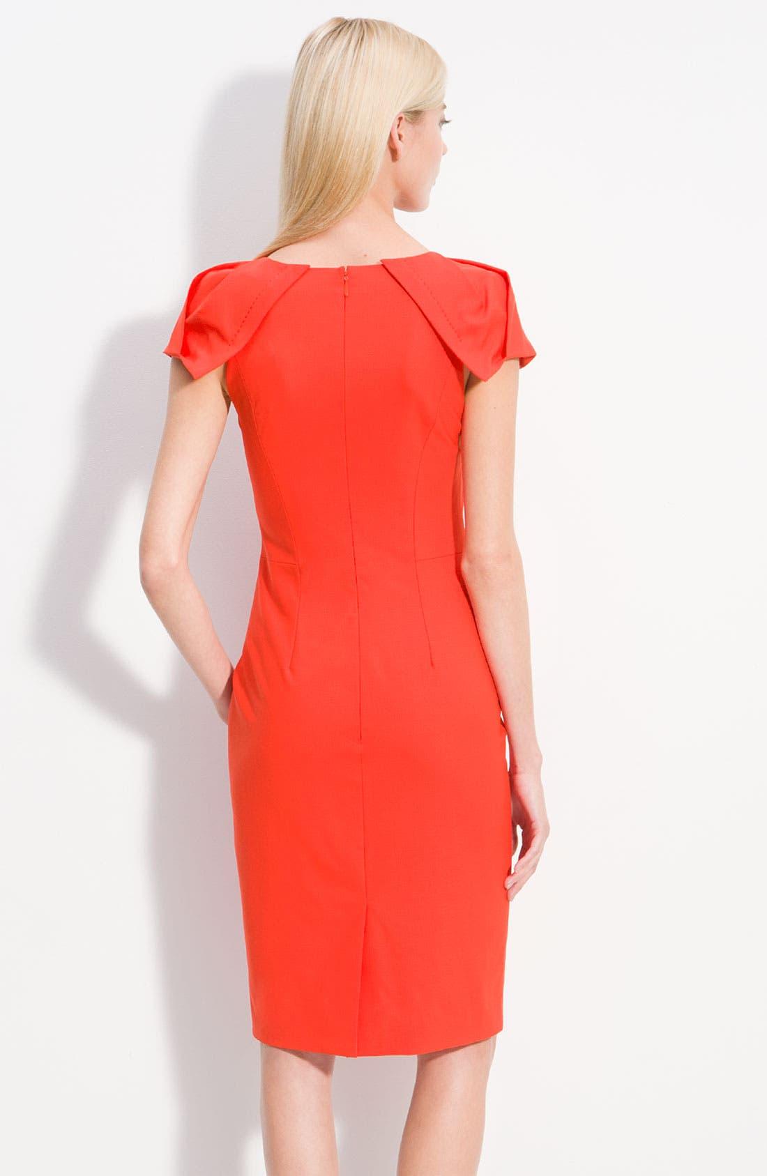 Alternate Image 2  - Rachel Roy Origami Cap Sleeve Fitted Dress