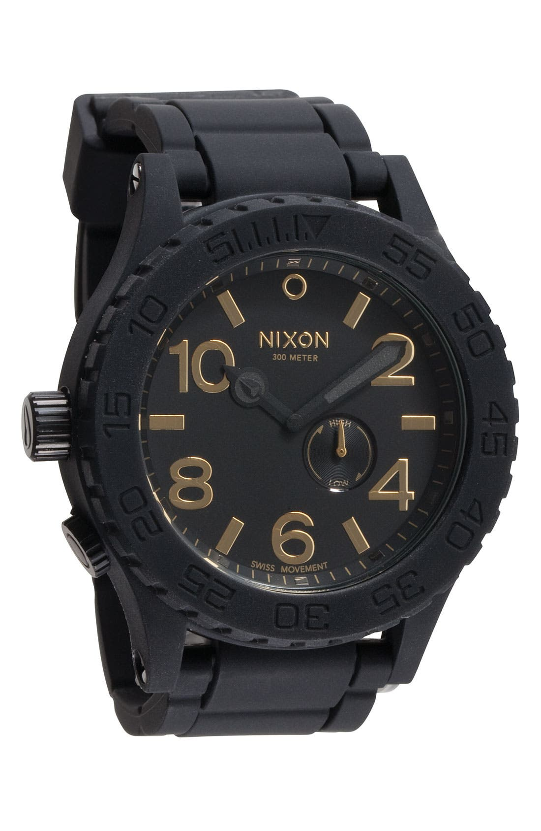 Alternate Image 1 Selected - Nixon 'The 51-30 Rubber' Strap Watch
