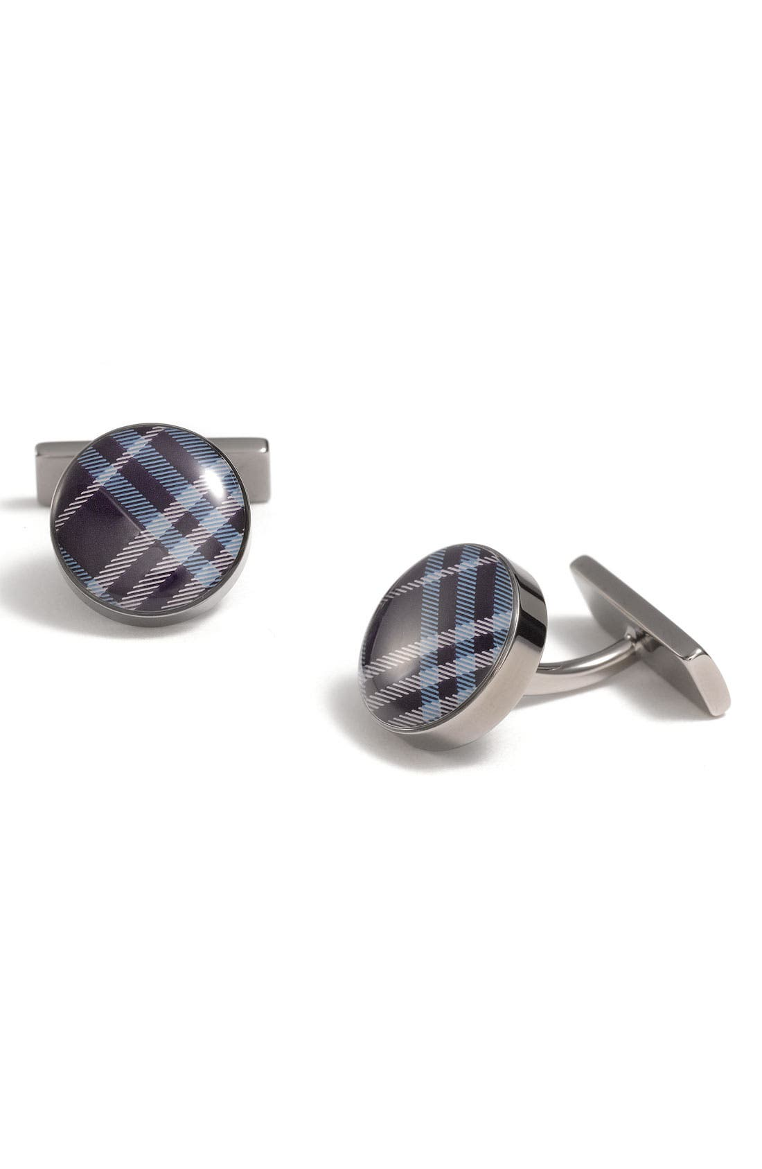 Alternate Image 1 Selected - Burberry Enameled Check Print Cuff Links