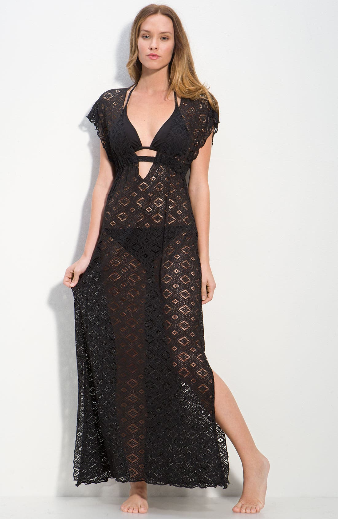 Main Image - Becca Crochet Cover-Up Dress