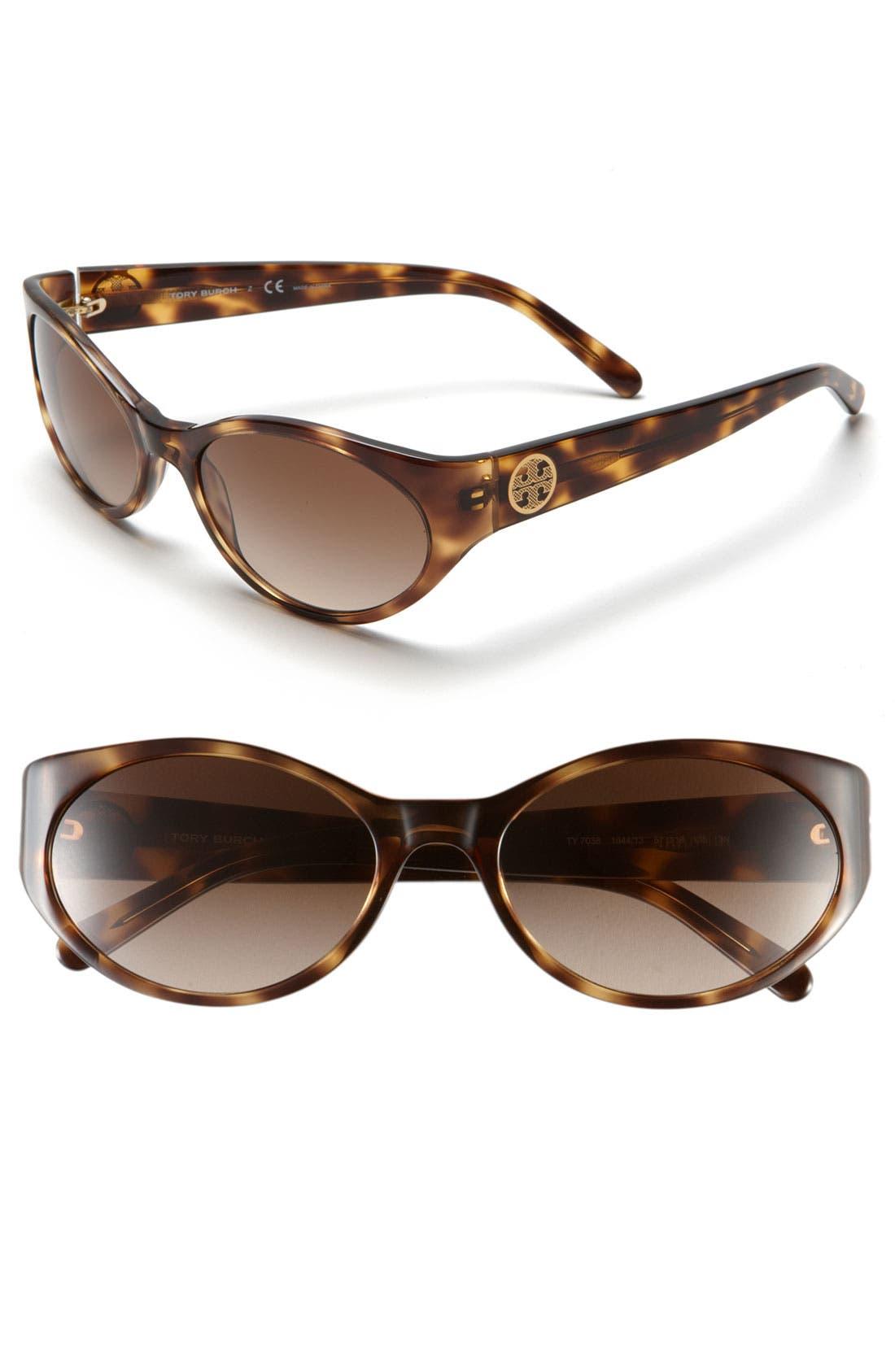 Alternate Image 1 Selected - Tory Burch 57mm Cat Eye Sunglasses