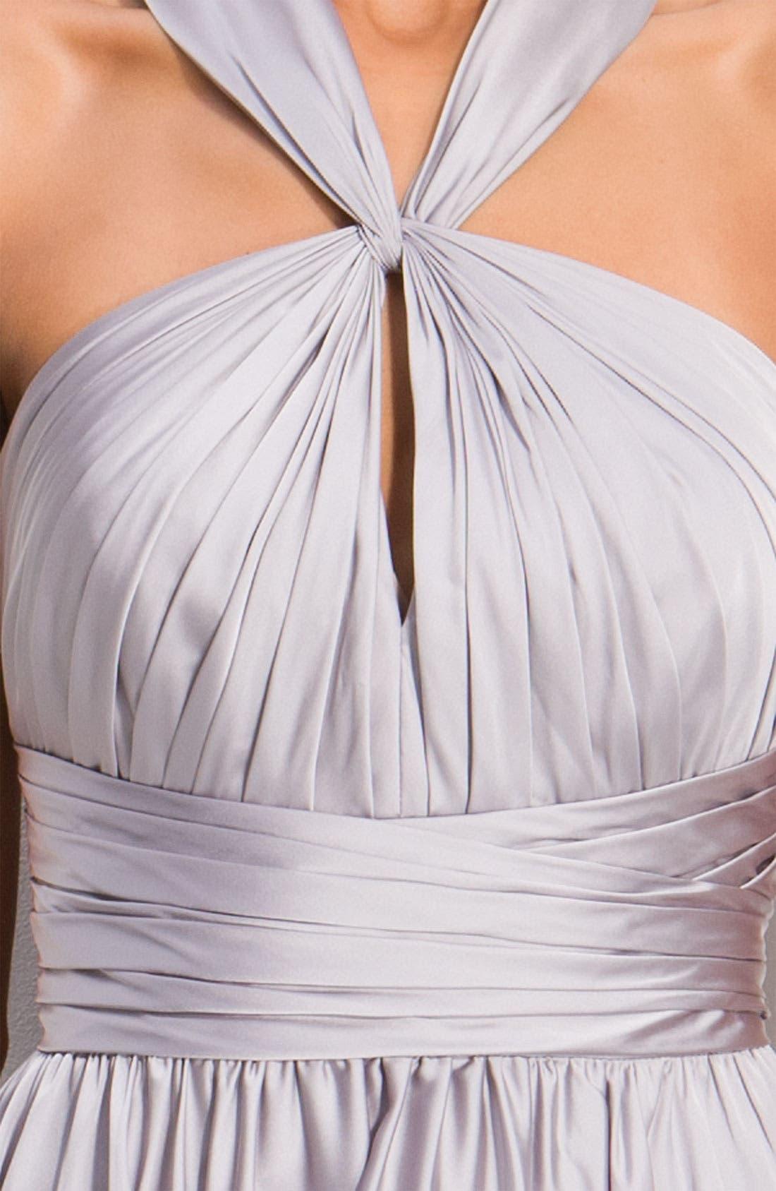 Alternate Image 3  - ML Monique Lhuillier Bridesmaids Twist Front Charmeuse Dress (Nordstrom Exclusive)