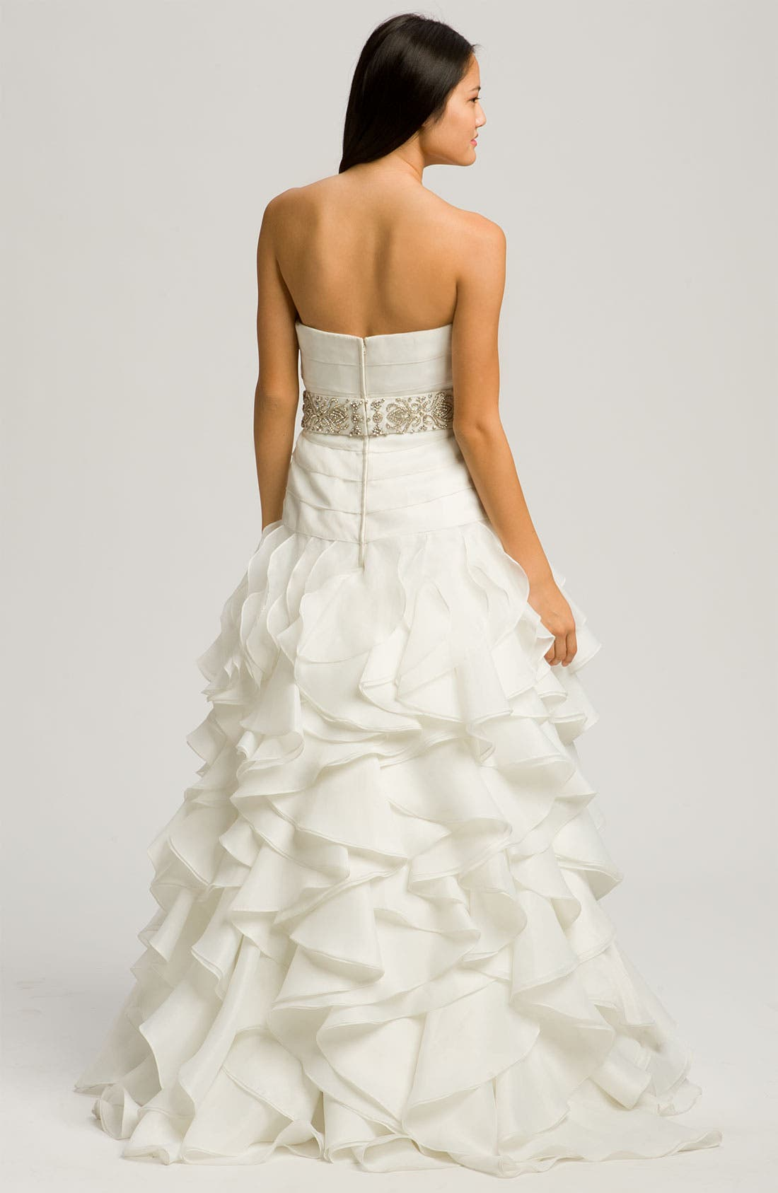 Alternate Image 2  - Faviana 'Chelsea' Strapless Satin-Faced Organza Gown