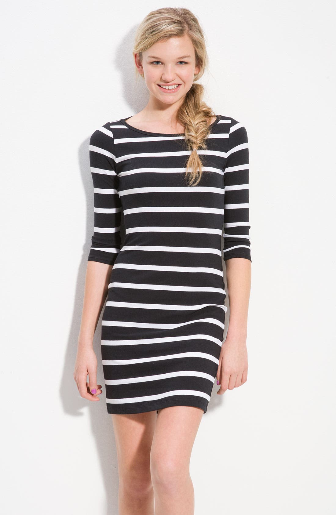 Fitted Dress For Juniors Soprano Striped Fitted...
