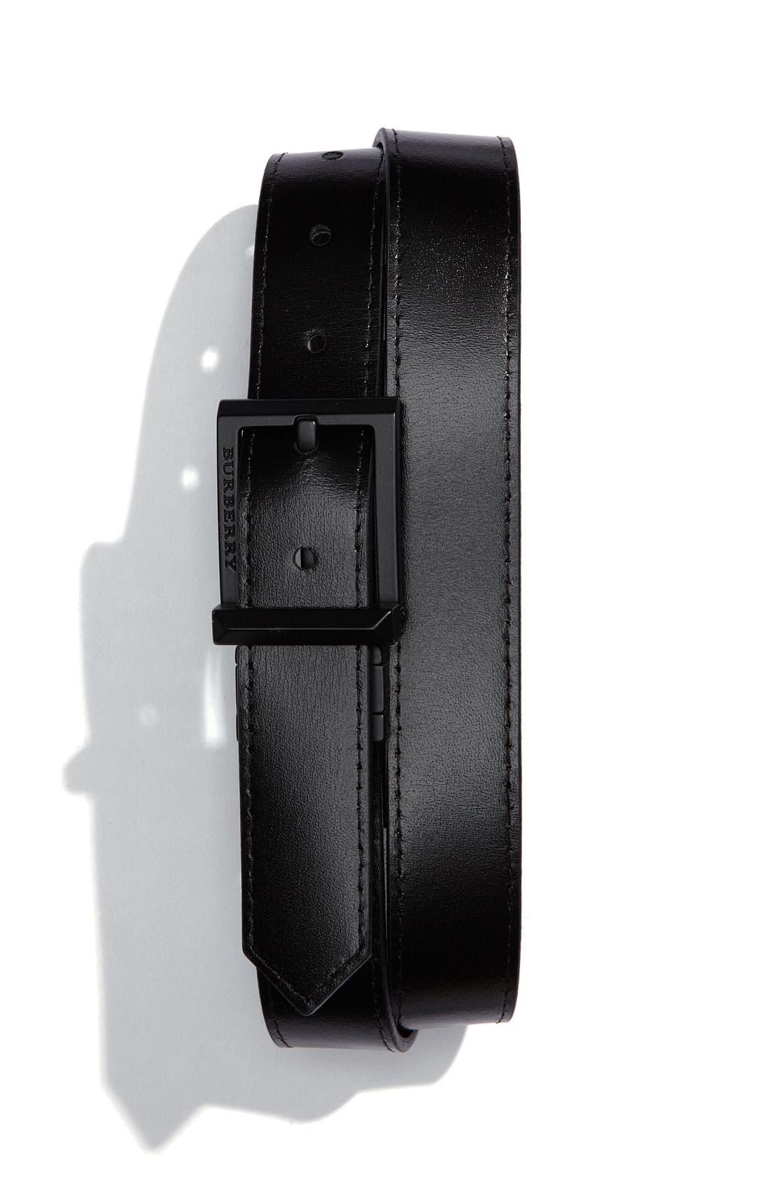 Alternate Image 2  - Burberry Check Print Belt