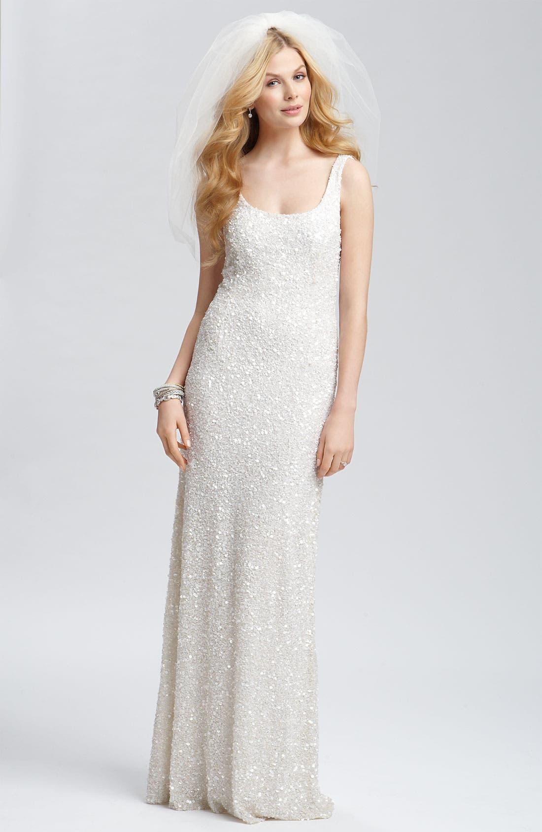 Alternate Image 4  - Theia Beaded Sleeveless Gown