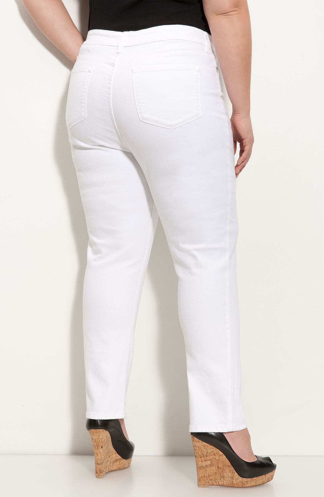 Alternate Image 2  - NYDJ 'Alisha' Skinny Stretch Jeans (Plus)