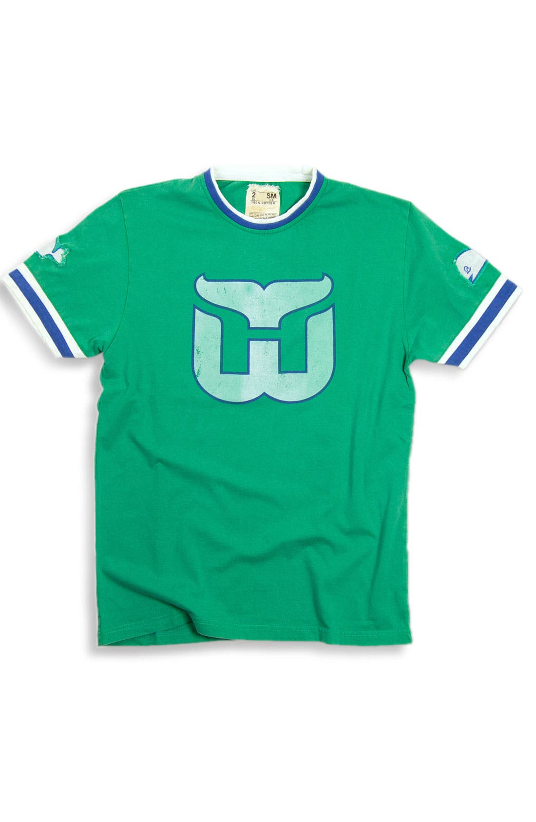 Alternate Image 1 Selected - Red Jacket 'Hartford Whalers' Trim Fit Crewneck Ringer T-Shirt (Men)