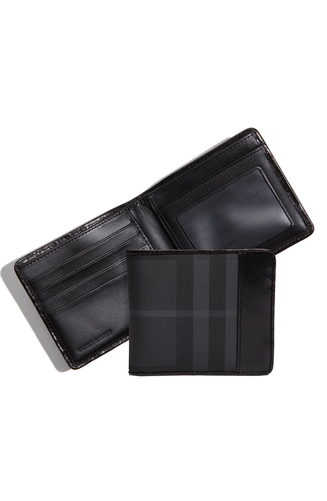 Alternate Image 4  - Burberry Check Print Billfold Wallet
