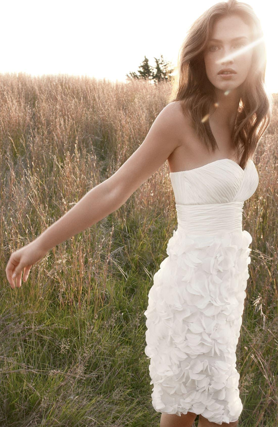 Alternate Image 6  - JS Collections Chiffon Petal Strapless Sheath Dress