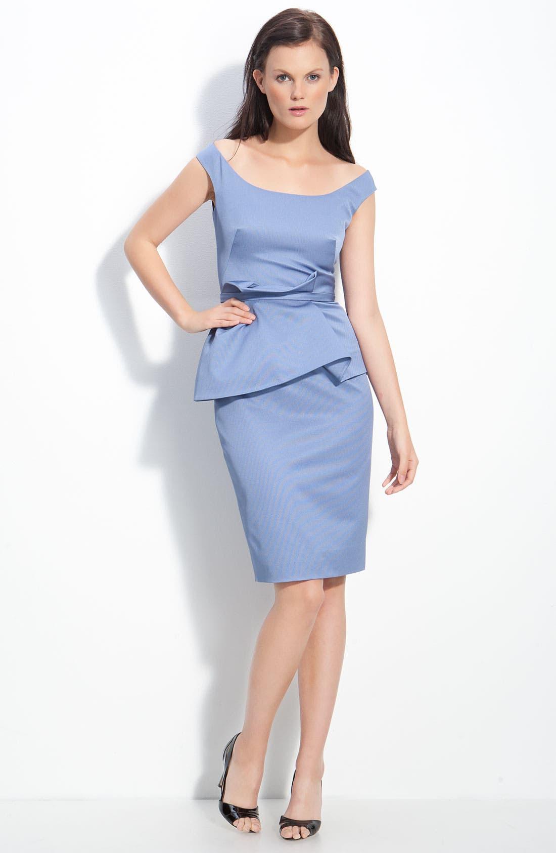 Alternate Image 1 Selected - Lela Rose Peplum Waist Dress