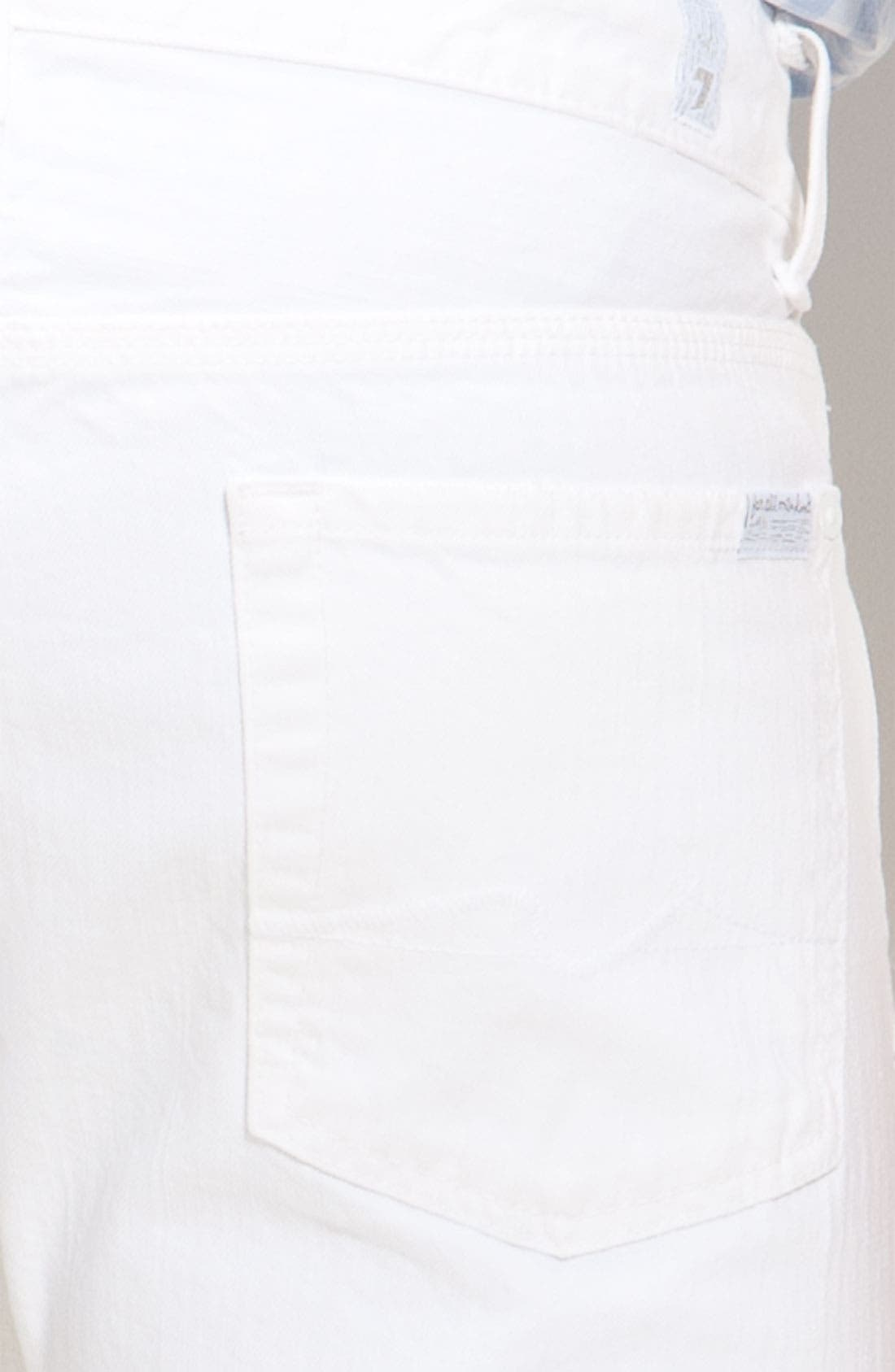 Alternate Image 3  - 7 For All Mankind® 'Slimmy' Slim Straight Leg Jeans (Clean White Wash)