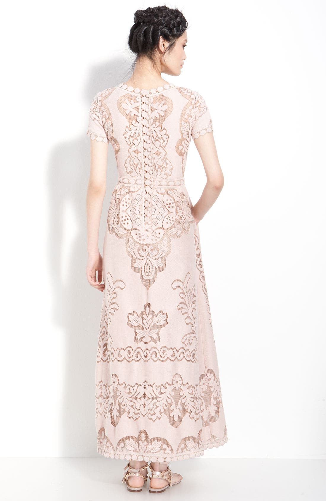 Alternate Image 2  - Valentino Point de Flandres Lace Gown