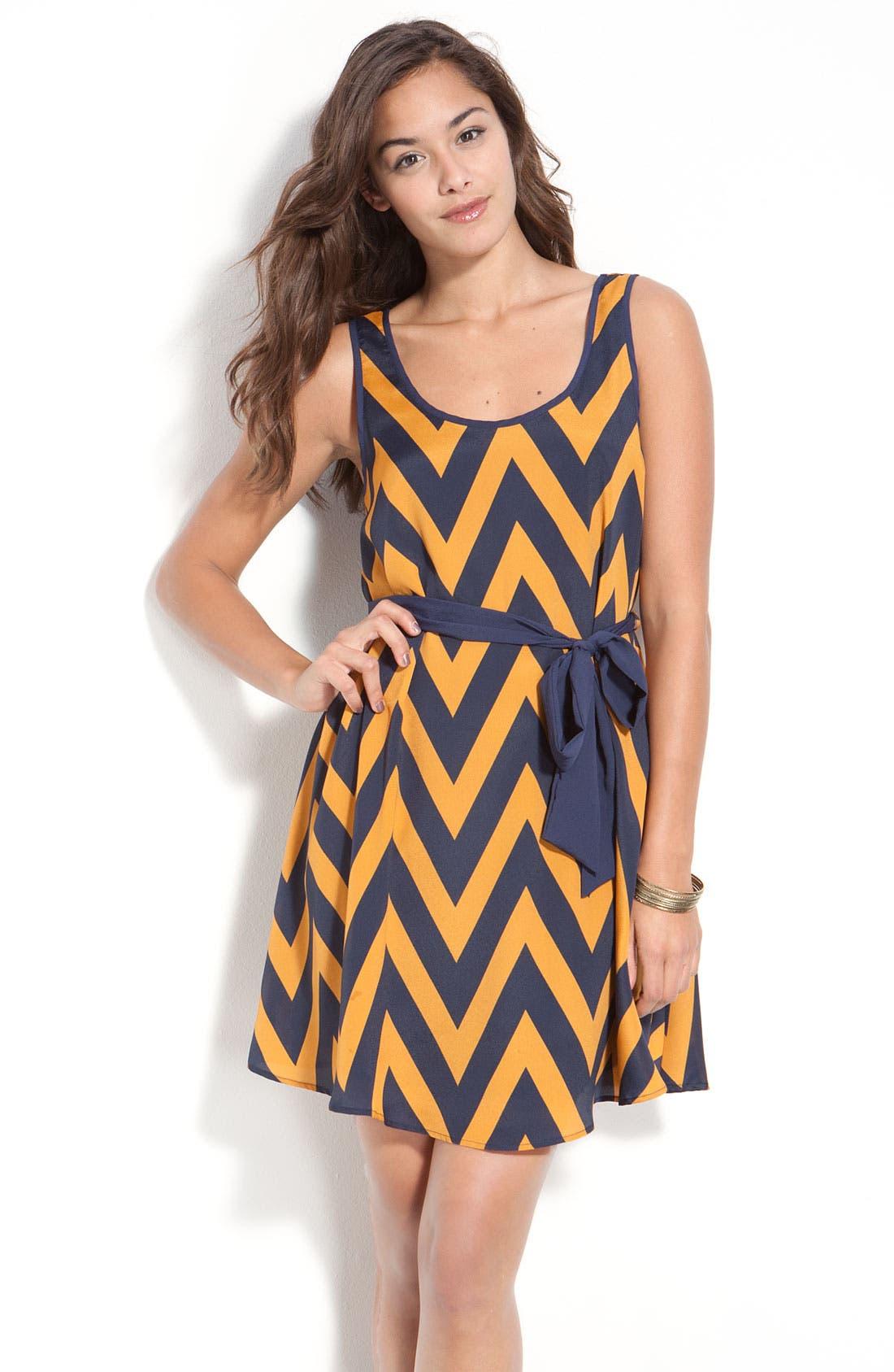Main Image - Lush Zigzag Tank Dress (Juniors)