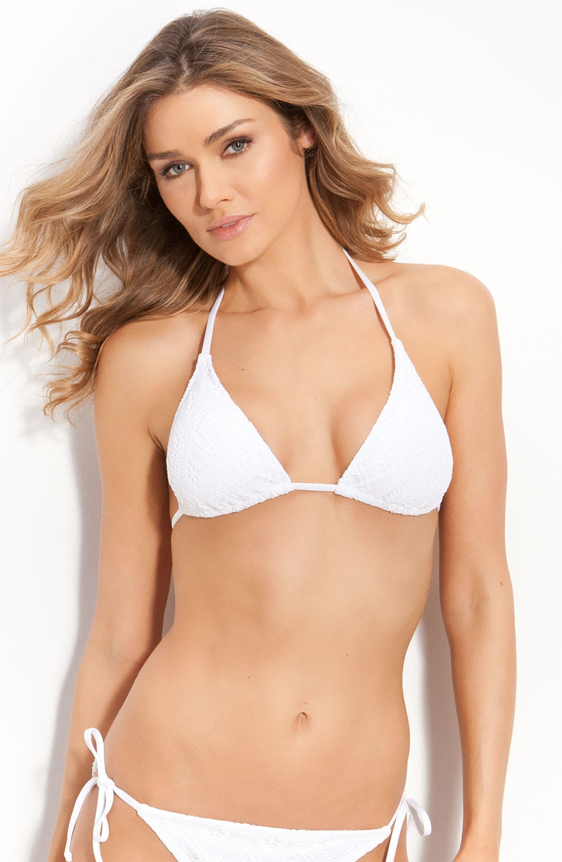 Alternate Image 1 Selected - Becca Crochet Triangle Bikini Top